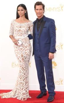 Matthew McConaughey & Camila Alves (Zuhair Murad; Dolce & Gabbana)