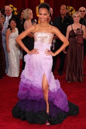 Zoe Saldana in Givenchy 2010